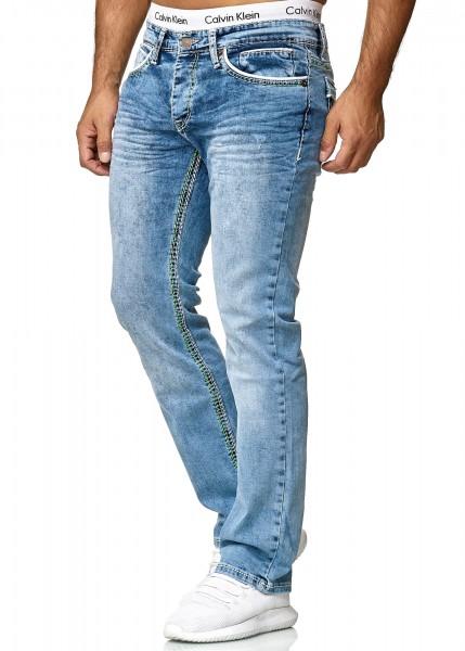 Code47 Herren Jeans Denim Slim Fit Used Design Modell 5169