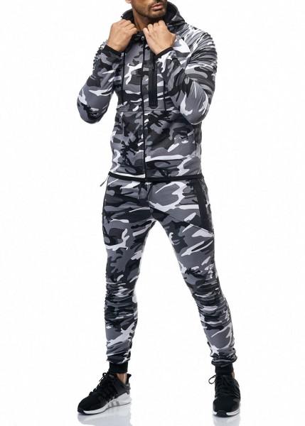 Herren Camouflage Army Jogginganzug Jogging Hose Jacke Sportanzug Military 1053