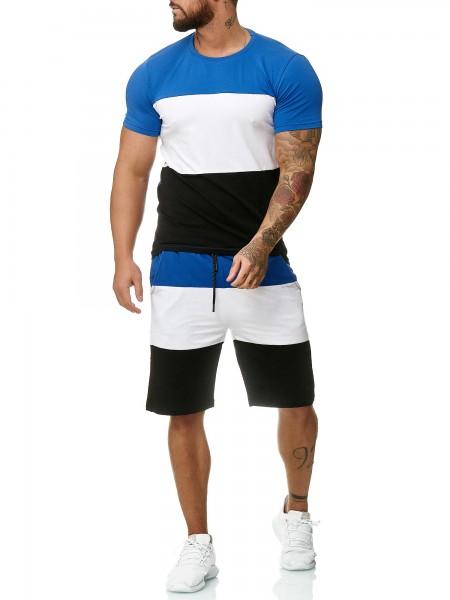 Code47 Herren Short-Jogginganzug Shortanzug Sportanzug Short T-Shirt Modell 1335