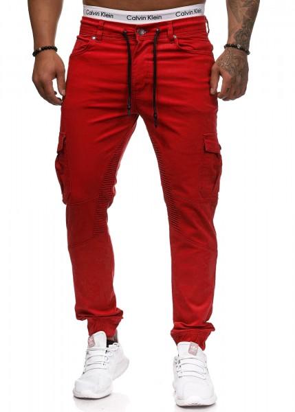 Herren Skinny Fit Cargo Jeans Chino