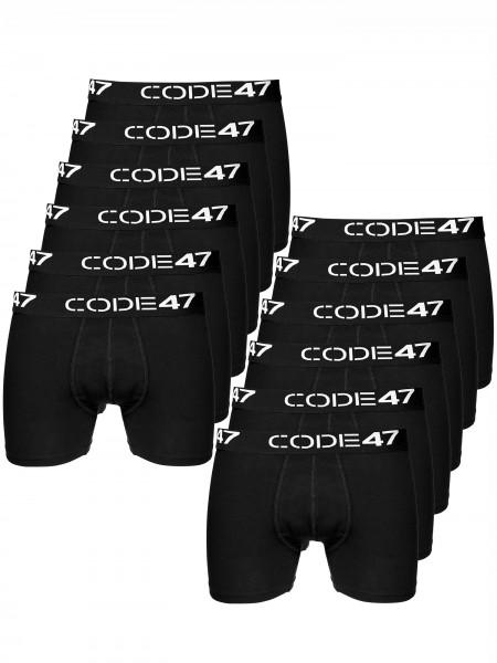 Code47 Boxershorts Men Herren 12er Pack Unterwäsche Unterhosen Retroshorts