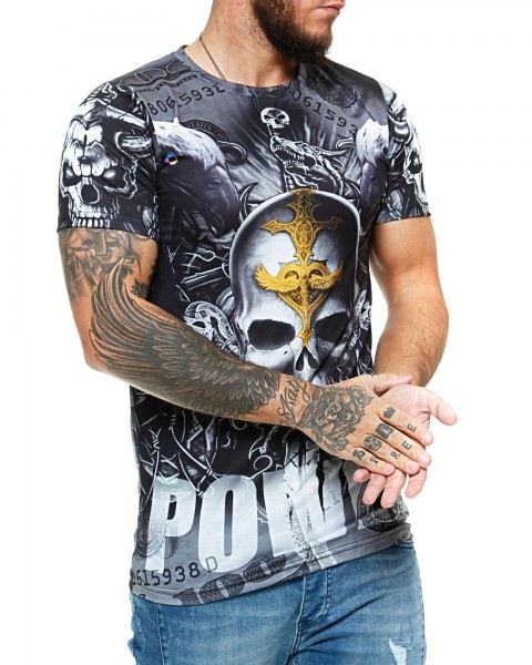 Herren T-Shirt Kurzarm Rundhals Power Modell 1484