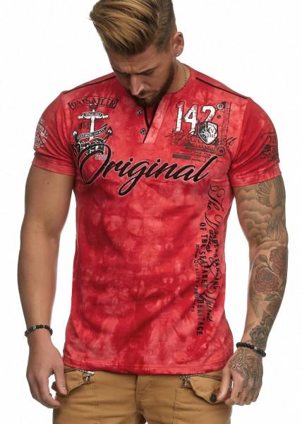 Herren Washed Vintage Slim Fit T-Shirt Shirt Round Neck M-5XL