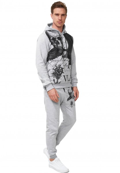 Code47 Herren Jogginganzug Trainingsanzug Männer Sportanzug Fitness Outfit Streetwear Tracksuit Jogg
