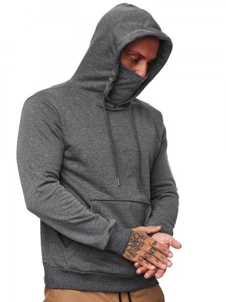 Code47 Herren Hoodie Kapuzenpullover Pullover für Männer Pulli Oberteil Sweatshirt Sweater Joggingpu