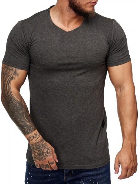 Code47 Herren Rundhals T-Shirt Poloshirt Polo Longsleeve Kurzarm Shirt Modell 7031