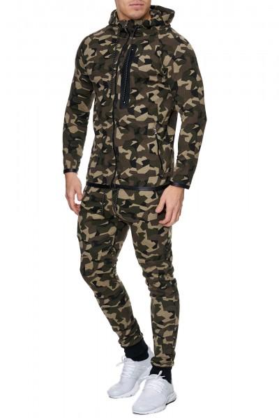 Herren Jogginganzug Jacke Sport Hose Fitness Hoodie Camouflage 710