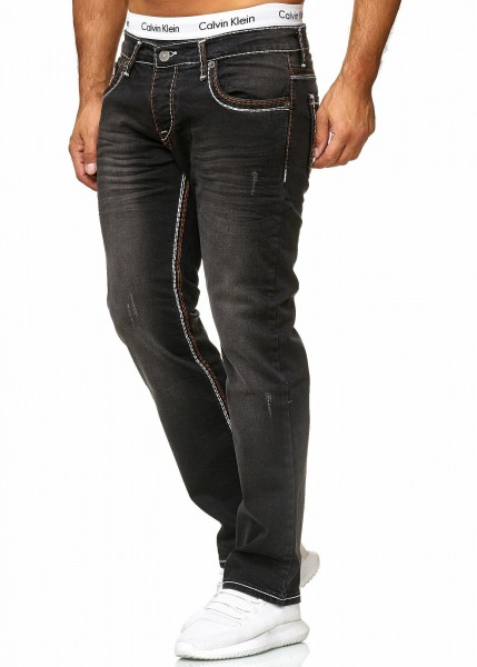 Code47 Herren Jeans Denim Slim Fit Used Design Modell 5173