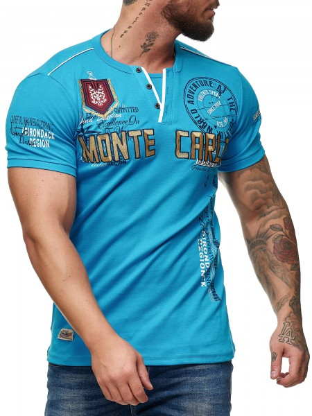 Code47 Herren T Shirt Hoodie Longsleeve Kurzarm Shirt Sweatshirt Monte Carlo 3459
