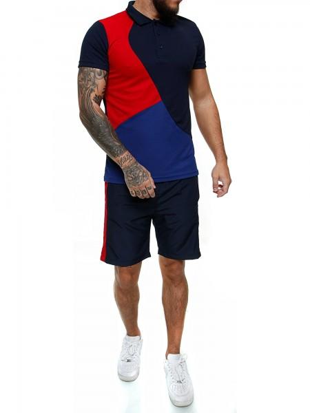 Code47 Herren Short-Jogginganzug Shortanzug Sportanzug Short T-Shirt Modell 12127