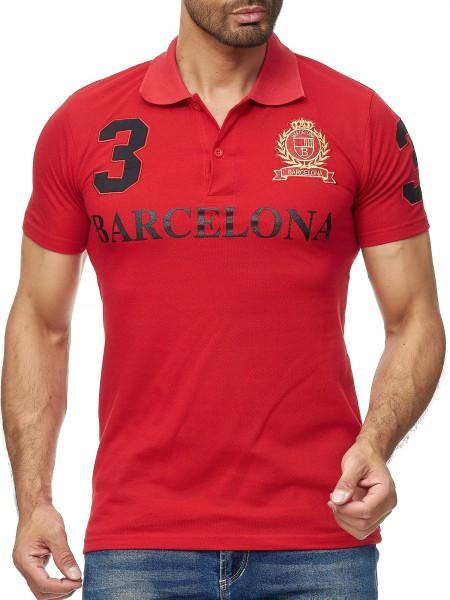 Herren Barcelona Barca T-Shirt Top Shirt Clubwear Shortsleeve Kragen Polo M-5XL