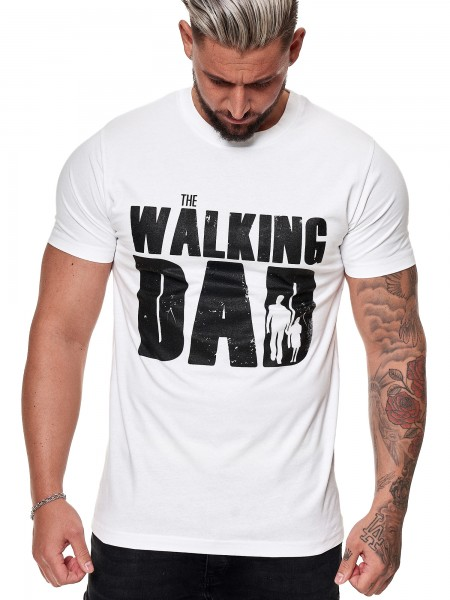 Herren T Shirt Poloshirt Polo The Walking Dad Longsleeve Kurzarm Shirt Modell FUN100