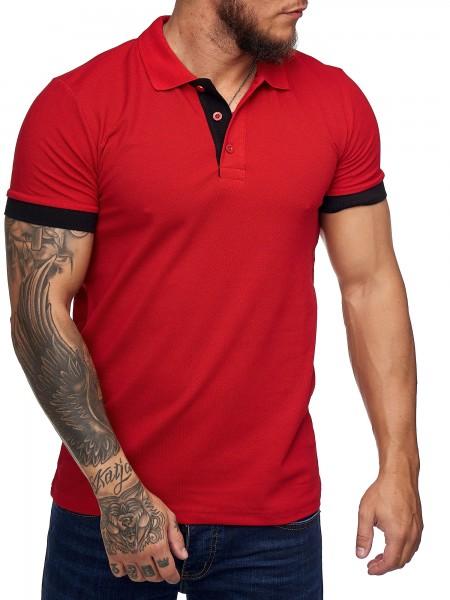 Code47 Herren Poloshirt Polohemd Basic Kurzarm Einfarbig Slim Fit Polo Shirt Baumwolle T-Shirt Polok