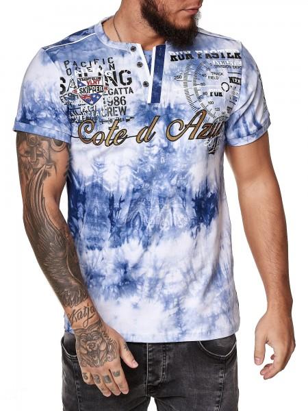 Code47 Herren T-Shirt Kurzarm Rundhals Cote d Azur Tee Modell 3559