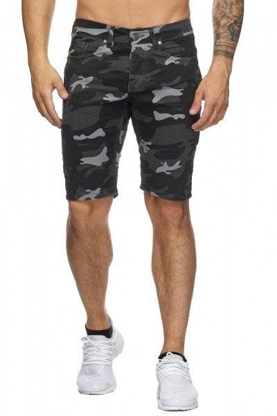 Code47 Herren Bermuda Shorts Herren Sport Shorts Freizeithose Kurze Hosen Cargohosen 4036 Camouflage