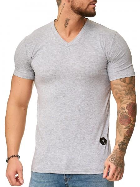 Oversize Herren Vintage T-Shirt Basic Shirt Round Neck Basic Rundhals Shortsleeve