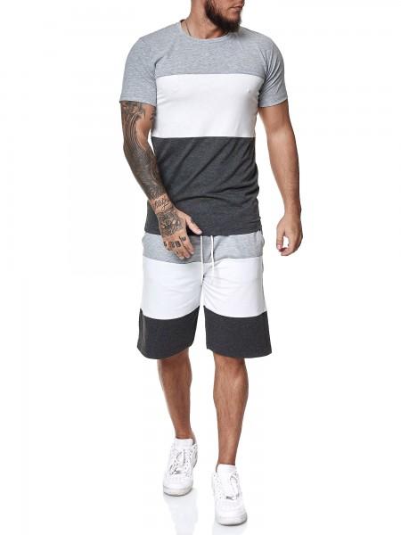 Short-Jogginganzug Trainingsanzug Shortanzug Sportanzug Short T-Shirt Herren