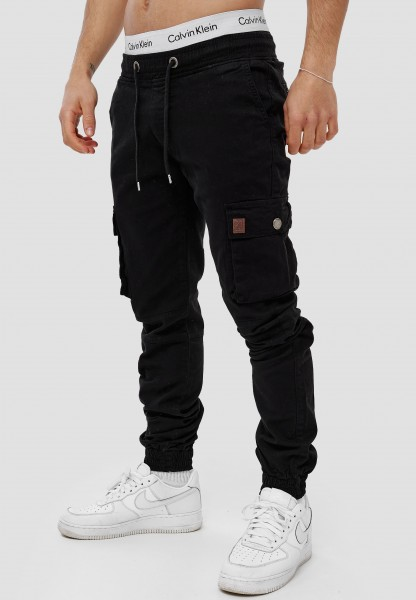 Code47 Herren Chino Jogg Jogger Joggchino Jeans Slim Fit Cargo Stretch W29-W38