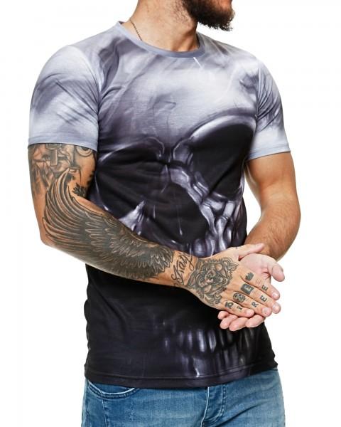 Herren T-Shirt Kurzarm Rundhals Ace of Dead Modell 1473