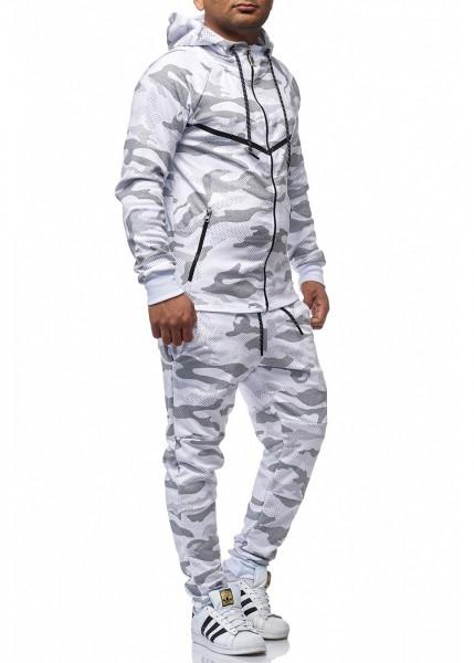 Jogginganzug Sportanzug Trainingsanzug Camouflage Jogging Hose Jacke Herren
