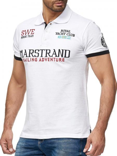 Herren Marstrand Sweden T-Shirt Top Shirt Clubwear Shortsleeve Kragen Polo M-5XL