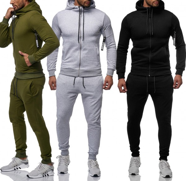 Herren Jogginganzug Jacke Sport Hose Fitness Jacke Basic