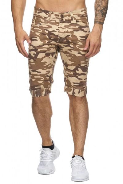 Code47 Herren Bermuda Shorts Herren Sport Shorts Freizeithose Kurze Hosen Cargohosen 4045 Camouflage