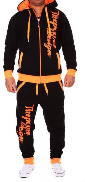 Herren Jogginganzug Jacke Sport Hose Fitness Jacke Power