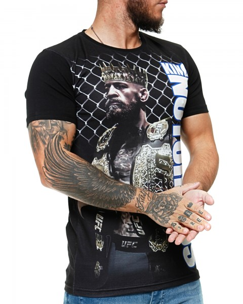 Herren T-Shirt Kurzarm Rundhals King Notorious Modell 1448