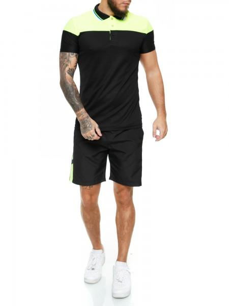 Code47 Herren Short-Jogginganzug Shortanzug Sportanzug Short T-Shirt Modell 12125