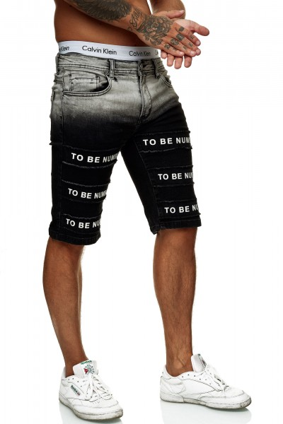 Herren Shorts Bermuda Jeansshorts Destroyed Wash Clubwear Modell E7537