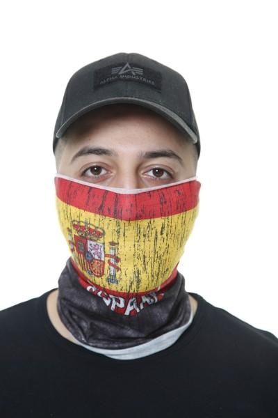 Code47 Gesichtsschutz Halstuch Länder Bedruckt Biker Schal Ski Motorrad Gesichtsmaske
