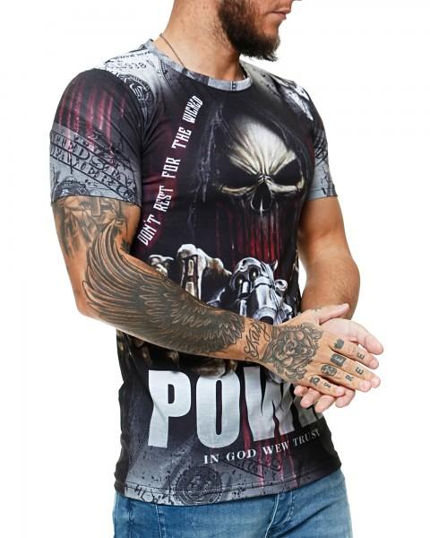 Herren T-Shirt Kurzarm Rundhals Power Modell 1479
