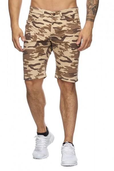 Code47 Herren Bermuda Shorts Herren Sport Shorts Freizeithose Kurze Hosen Cargohosen 4037 Camouflage