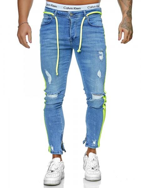 Herren Jeans Hose Slim Fit Männer Skinny Denim Designerjeans J-8003-BG