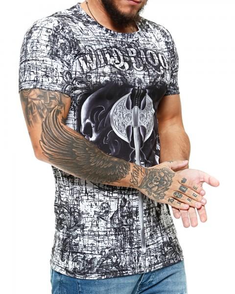 Herren T-Shirt Kurzarm Rundhals Wild Blood Modell 1489
