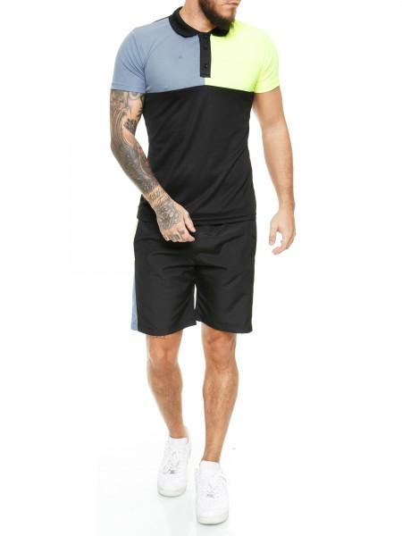 Code47 Herren Short-Jogginganzug Shortanzug Sportanzug Short T-Shirt Modell 12129