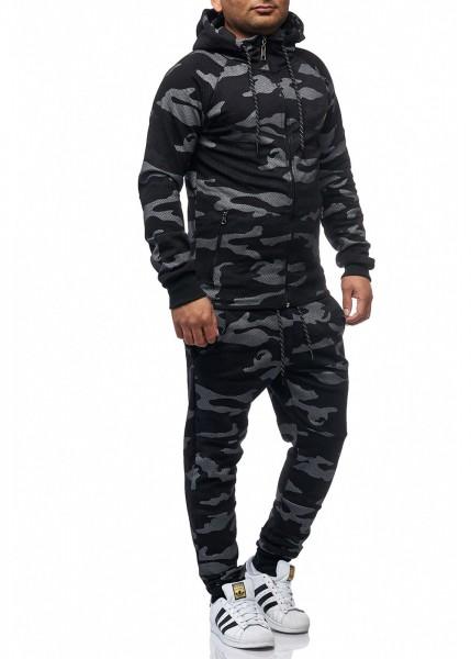 Herren Camouflage Army Jogginganzug Jogging Hose Jacke Sportanzug Military 724